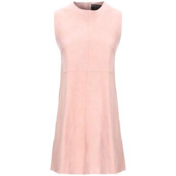 《セール開催中》MUUBAA レディース ミニワンピース&ドレス ピンク 6 山羊革 100%