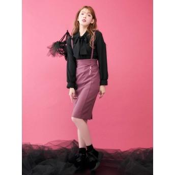 [EATME]BACKレースアップコルセットスカート