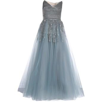 《セール開催中》OSCAR DE LA RENTA レディース ロングワンピース&ドレス シルバー 8 ナイロン 100% / シルク