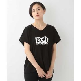 ジョルジュ レッシュ ロゴVネックTシャツ レディース ブラック M 【GEORGES RECH】