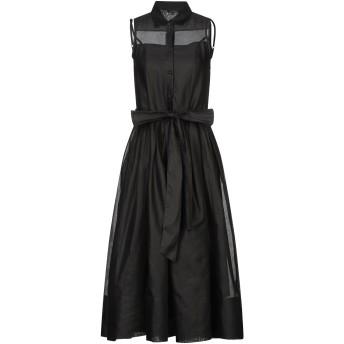 《セール開催中》TARA JARMON レディース 7分丈ワンピース・ドレス ブラック 38 コットン 100%