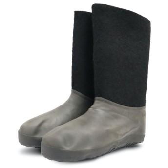 ロシアの暖かウール100%ブーツ「ヴァレンキ LE」ブラック ガロッシュ付