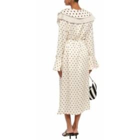 マザー オブ パール MOTHER OF PEARL レディース ワンピース ミドル丈 ワンピース・ドレス Layered pleated polka-dot satin midi dress