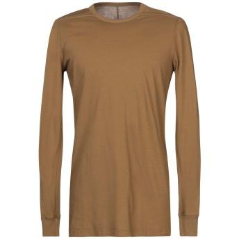 《セール開催中》RICK OWENS メンズ T シャツ カーキ S コットン 100%
