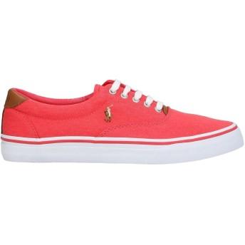 《セール開催中》POLO RALPH LAUREN メンズ スニーカー&テニスシューズ(ローカット) レッド 40 紡績繊維 / 革 Thorton Washed Twill Sneaker
