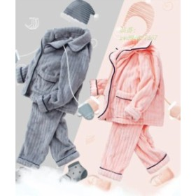 パジャマ 厚手 暖かい ゆったり 秋 冬 可愛い 女の子 上下セット 部屋着 カジュアル