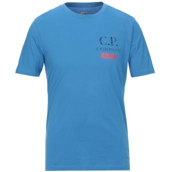 《セール開催中》C.P. COMPANY メンズ T シャツ アジュールブルー S コットン 100%