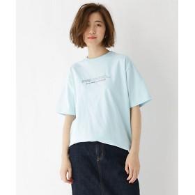 【SALE(三越)】<BASE STATION (LADIES)/ベース ステーション> プリント+刺繍ロゴ半袖Tシャツ(2001511799) 090アオ【三越・伊勢丹/公式】