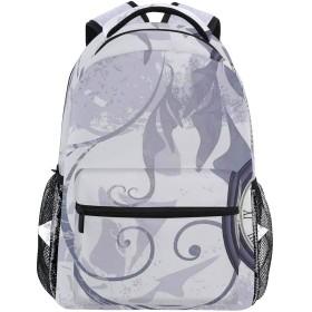 NINEHASA 新しいリュックサック人気リュックおしゃれ 大容量 軽量 通学 旅行ハイキングキャンプバッグ ルのシルエットとチェーンの古典的な装飾用の背景に懐中時計鳥類