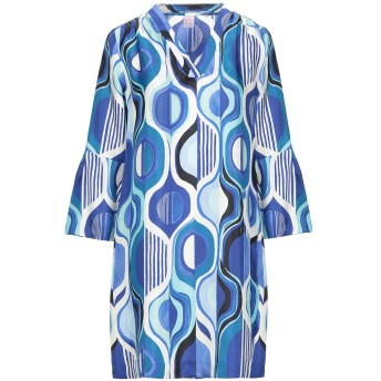 《セール開催中》ARCHIVIO '67 レディース ミニワンピース&ドレス ブルー 40 シルク 100%