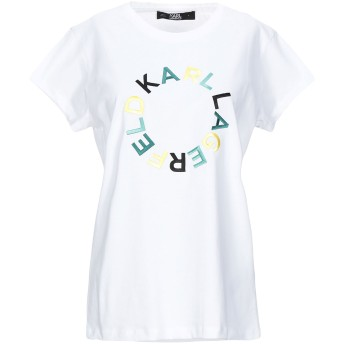 《セール開催中》KARL LAGERFELD レディース T シャツ ホワイト XS コットン 100%