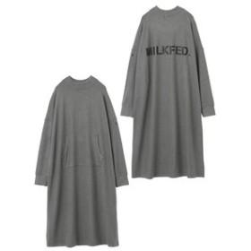 【MILKFED.:ワンピース】KANGAROO POCKET A-LINE DRESS