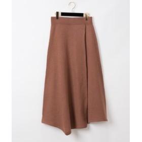 【GRACE CONTINENTAL:スカート】圧縮ウールニットスカート