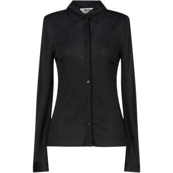 《セール開催中》MSGM レディース シャツ ブラック 42 レーヨン 100%