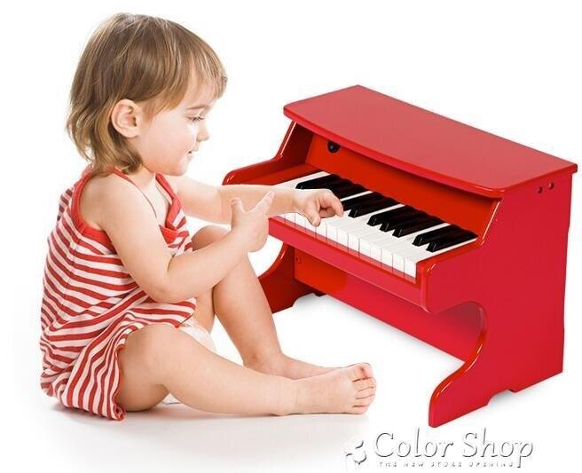 兒童鋼琴木質電子琴初學者1-3-6歲女孩男寶寶玩具小迷你    【交換禮物】YYP