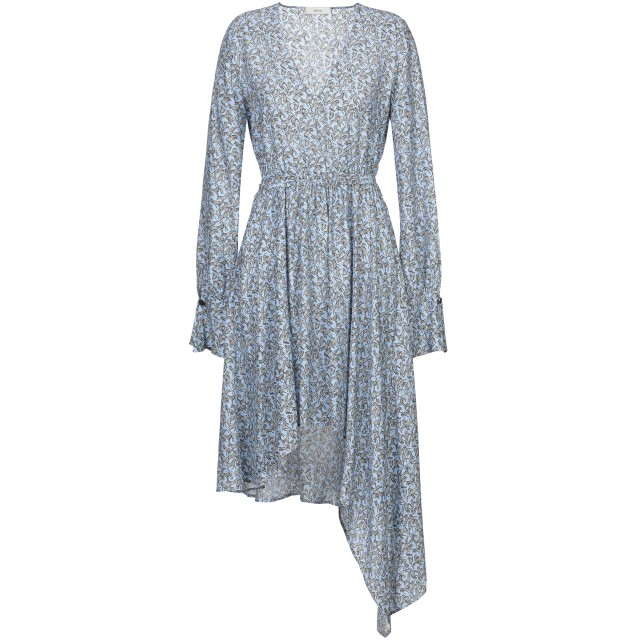 《セール開催中》MAURO GRIFONI レディース ミニワンピース&ドレス アジュールブルー 44 シルク 100%