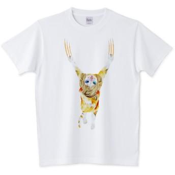 【Tシャツ】 CAT GIRL ぶら下がり