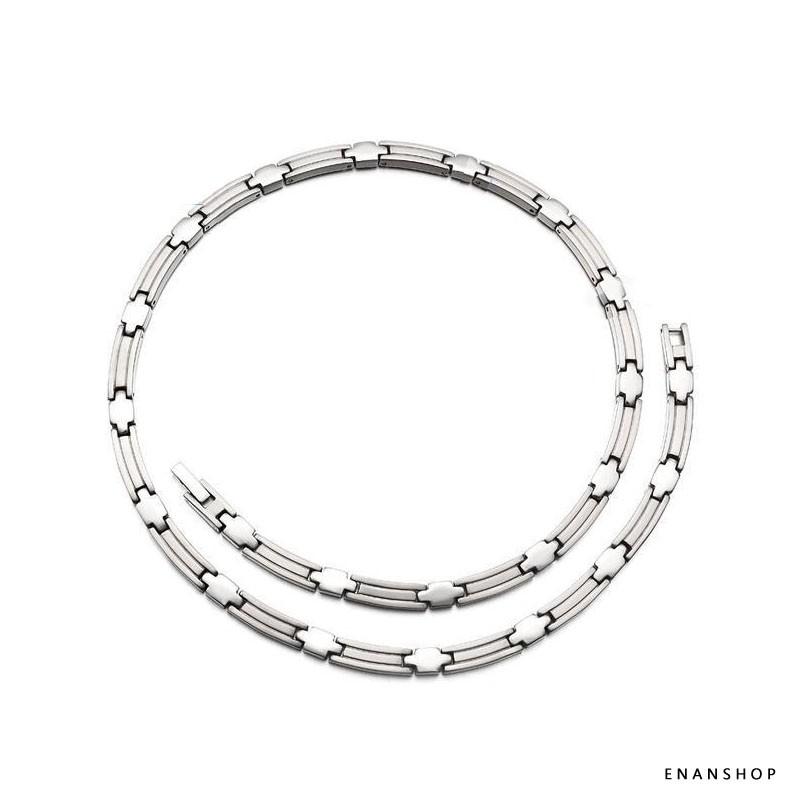 鈦鋼鍺石項鍊 極輕量重量約40克 男女可當情侶對鍊 單條價 惡南宅急店【7319A】