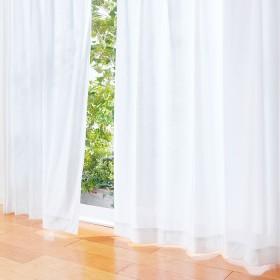 ベルーナインテリア 機能付レースカーテン「エコリエ」2枚組 ホワイト 丈176cm
