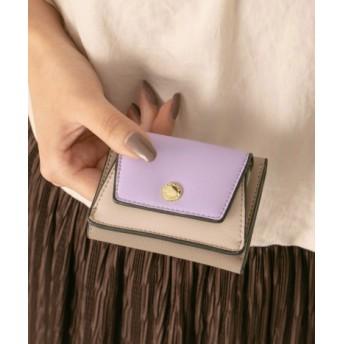 RODE SKO(ロデスコ) 財布/小物 財布 バイカラープチ3つ折り財布