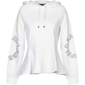 《セール開催中》KARL LAGERFELD レディース スウェットシャツ ホワイト XS コットン 100%