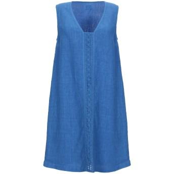 《セール開催中》120% レディース ミニワンピース&ドレス ブルー 42 リネン 100%