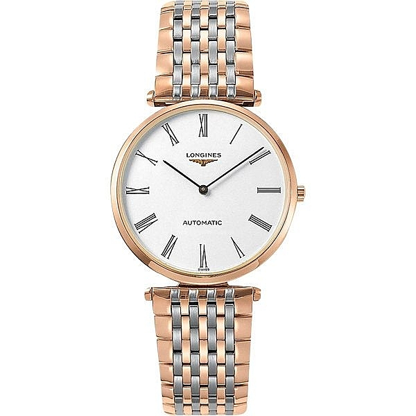 LONGINES 浪琴 La Grande 嘉嵐系列機械錶-白x雙色版/36mm L49081917