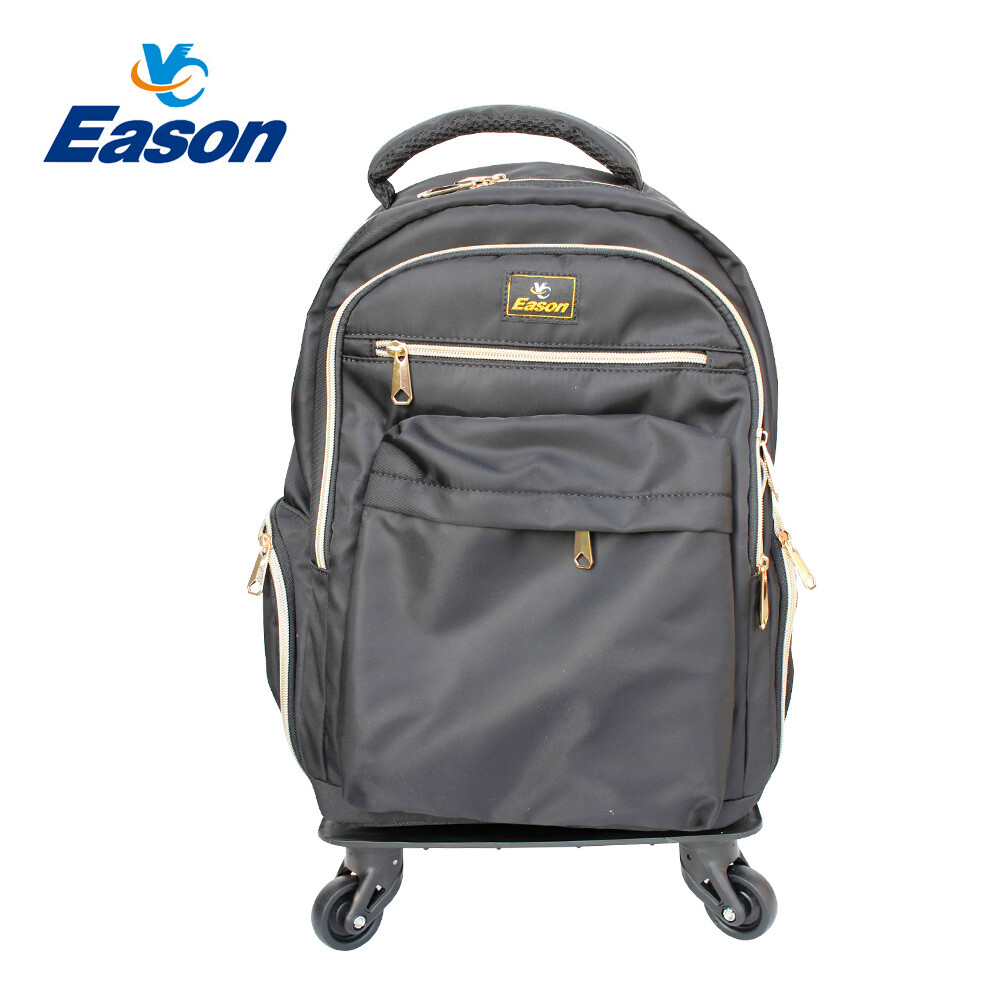 yc eason拉桿背包/帶輪手拉式背包(可單拆後背 / l號 / 黑色)