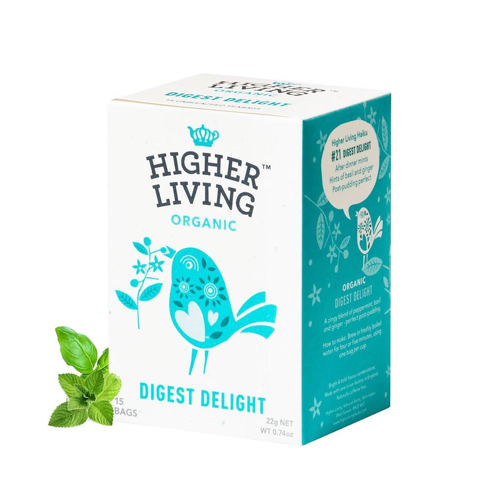 英國Higher Living消化解膩有機茶(15包-22g)
