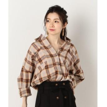 【アルシーヴ】A−綿チェックチュニックBIGシャツ