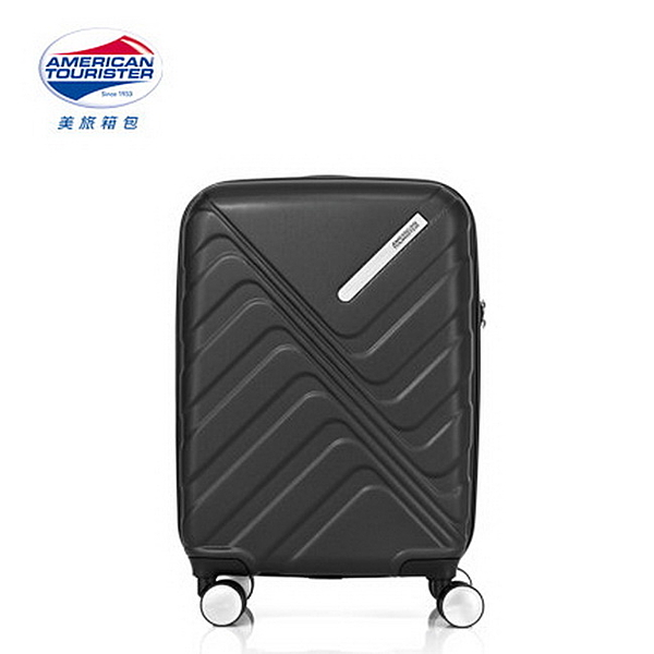 AT美國旅行者 20吋Flashflux 防爆拉鍊不可擴充 登機箱/行李箱-(黑) GS0