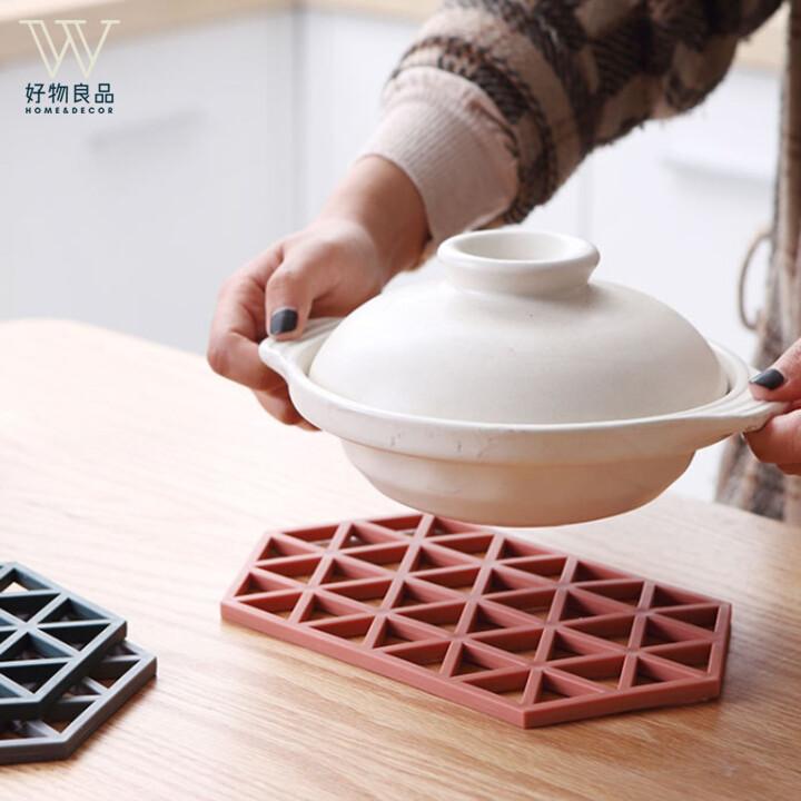 好物良品北歐風tpr防滑耐高溫鏤空防燙隔熱墊(長型) 鍋墊 杯墊 碗墊 桌墊 餐墊 d51