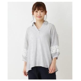 SHOO・LA・RUE(Ladies)(シューラルー(レディース))【2点セット】袖レーススキッパーシャツ