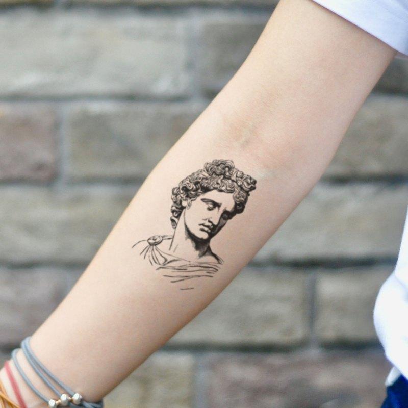 OhMyTat 阿波羅 Apollo 刺青圖案紋身貼紙 (2 張)