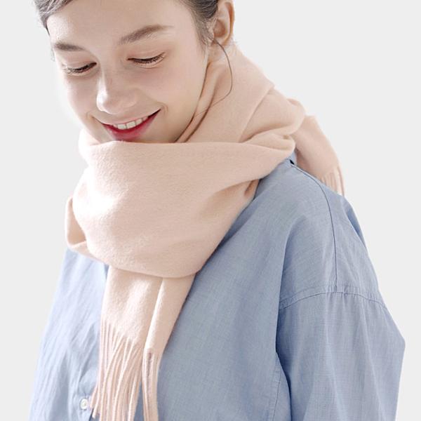 羊毛披肩-流蘇時尚純色百搭女圍巾16色73wq1[時尚巴黎]