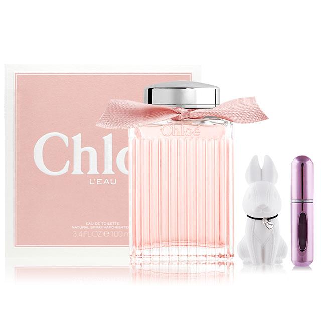 Chloe LEAU 粉漾玫瑰女性淡香水(100ml) EDT+贈擴香石&分裝瓶(隨機出貨)-公司貨