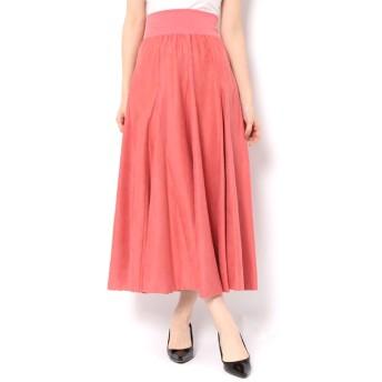 【アンドクチュール/And Couture】 細コールテンフレアロングスカート