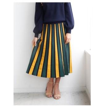 Nina mew(ニーナミュウ)配色ニットスカート