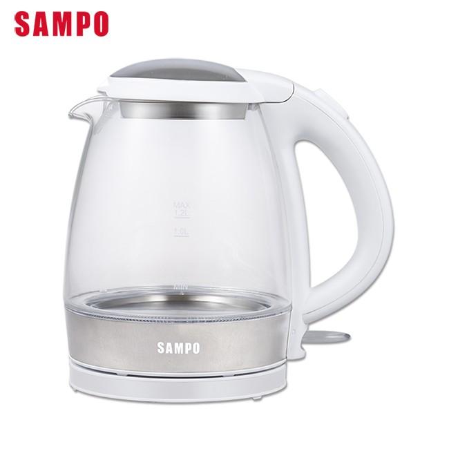SAMPO 聲寶輕巧美型1.2L玻璃快煮壺 KP-CA12G