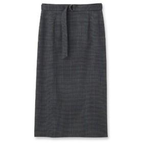 INDIVI(インディヴィ)[S]【ハンドウォッシュ】クリアクロスタイトスカート