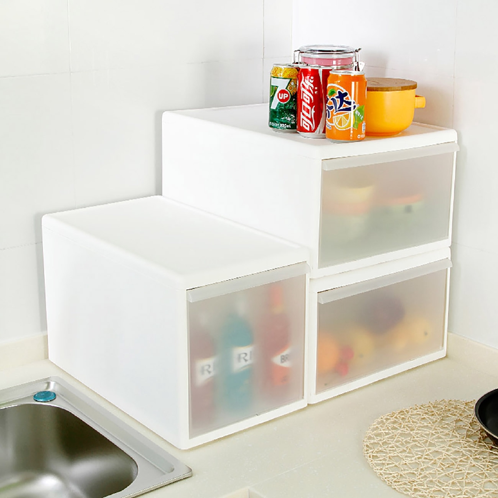 居家家抽屜式塑料透明大號收納箱衣物整理箱衣櫃裝衣服玩具收納盒可疊收納箱 置物箱 衣物收納箱玩具收納箱