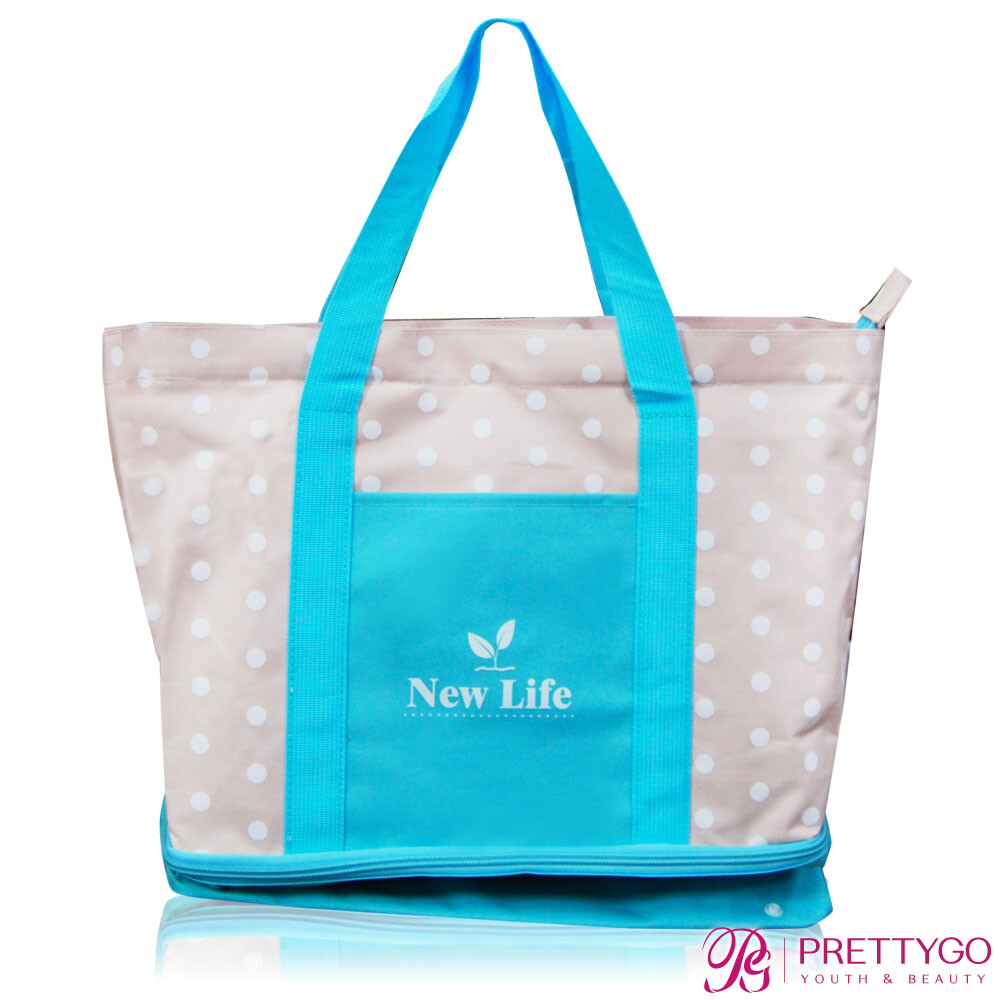 new life 多功能雙層購物袋(45x40x34cm)