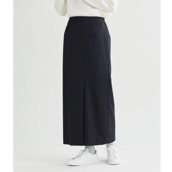 SIPULI / ミックスウール マキシスカート(ブラック)