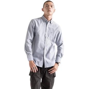 シャツ メンズ 長袖 オックスフォード シャツ メンズ 無地 春 夏 秋 形態安定 通勤 カジュアル ビジネス (グレー, XL)