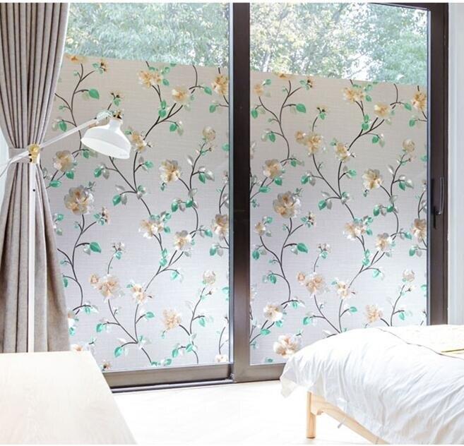 窗戶玻璃貼 無膠靜電玻璃貼膜磨砂浴室衛生間窗戶貼紙透光不透明防曬【快速出貨八折搶購】