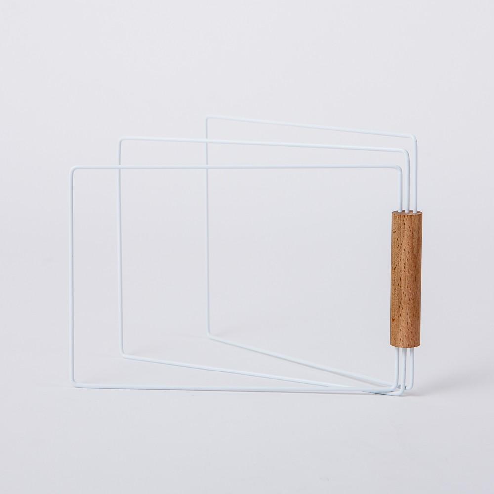 【生活工場】小法國收合式木柄抹布架