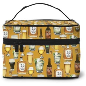 化粧ポーチ 面白いワイン 化粧品バッグ 防水 多機能 大容量 持ち運び便利 旅行する