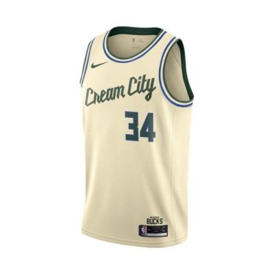 Nike 球衣 NBA Jersey 公鹿隊 字母哥 男款