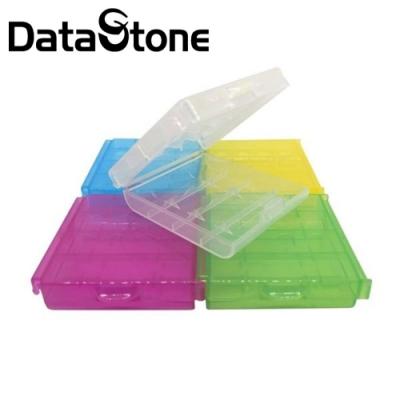 DataStone 電池收納盒 3/4號電池(共用) 4/5入裝收納盒 5色炫彩X10個