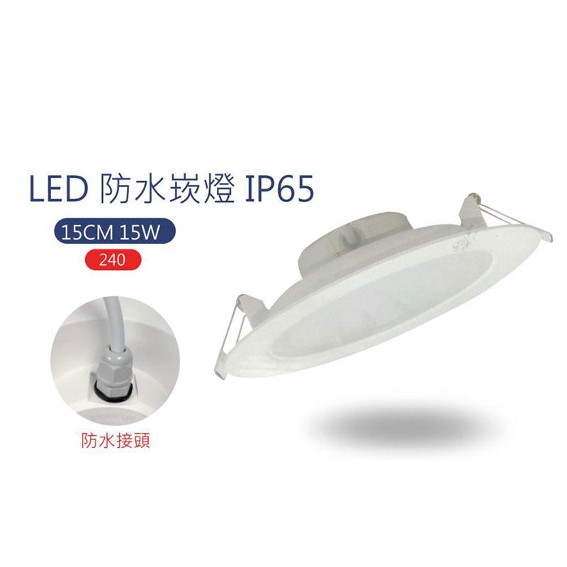 亮博士LED防水崁燈 15W/30W IP65/全電壓/15CM/黃光/白光